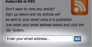Subscribe by RSS via Email